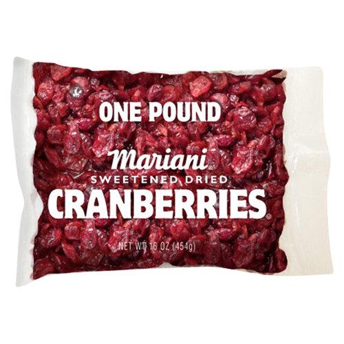 Mariani Sweetened Dried Cranberries, 16 oz
