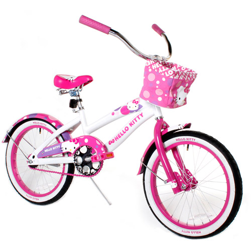 """18"""" Hello Kitty Girls' Bike, Pink/White"""
