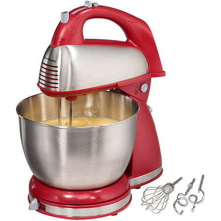 Hamilton Beach Classic Hand and Stand Mixer Red | Model# 64654 (Mixer Mobile)