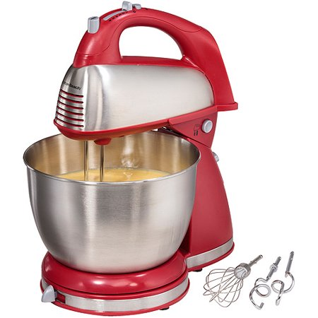 Hamilton Beach Classic Hand and Stand Mixer Red | Model# 64654 Kitchen Portable Hand Mixers