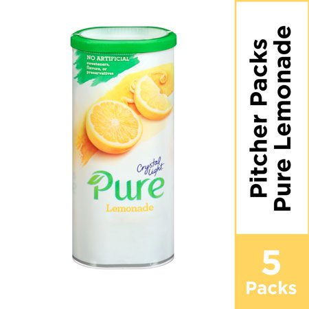 Crystal Light Pure Lemonade Powdered Drink Mix, Caffeine Free, 2.53 oz Can
