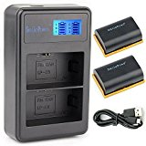 SmilePowo 2 Pack LP_E6 Battery and Dual Battery Charger W...