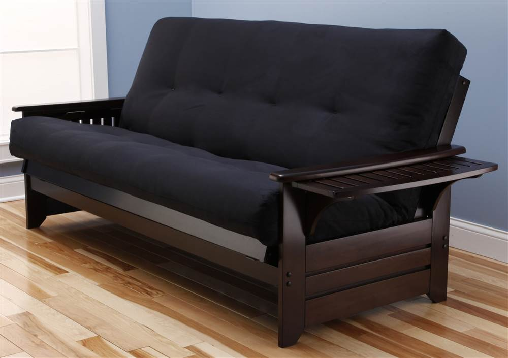 Phoenix Futon Sofa In Espresso Finish