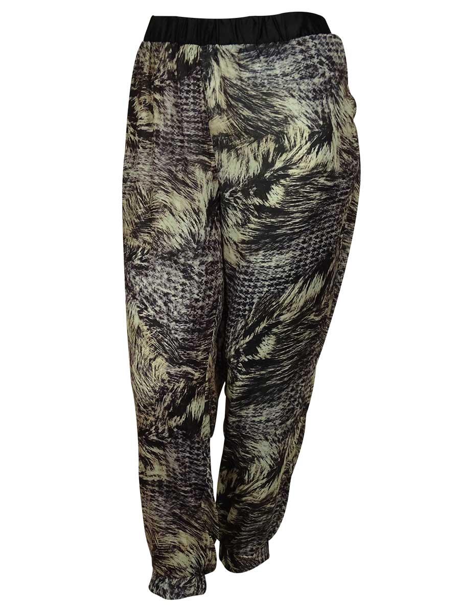Modamix Women's Stretch Waist Patterned Print Pants