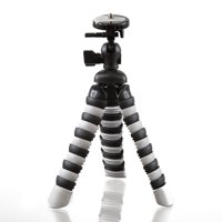 Ultimaxx 8'' Inch Gripster Flexible Compact Digital SLR Camera Tripod (Grey)