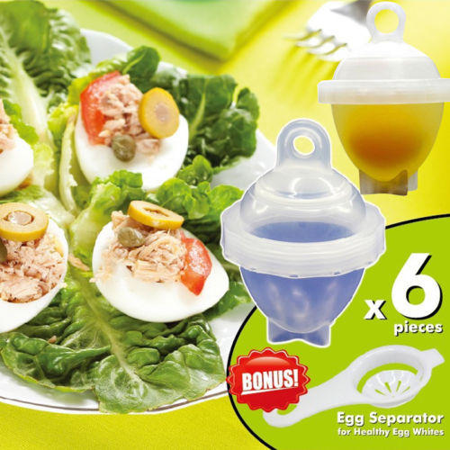 US Kitchen Eggletes Egg Cooker Hard Boiled Eggs without the Shell 12 Egg Cups