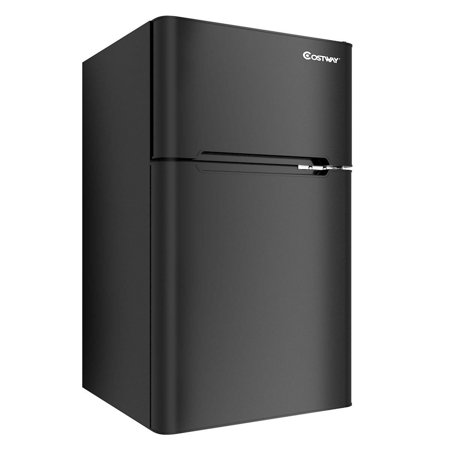 Stainless Steel Refrigerator Small Freezer Cooler Fridge Compact 3.2 cu ft. Unit - image 1 of 10