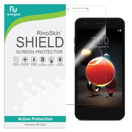 LG Aristo 2 Screen Protector (Edge-to-Edge) RinoGear Flexible HD Invisible Clear Shield Anti-Bubble Unlimited Replacement Film