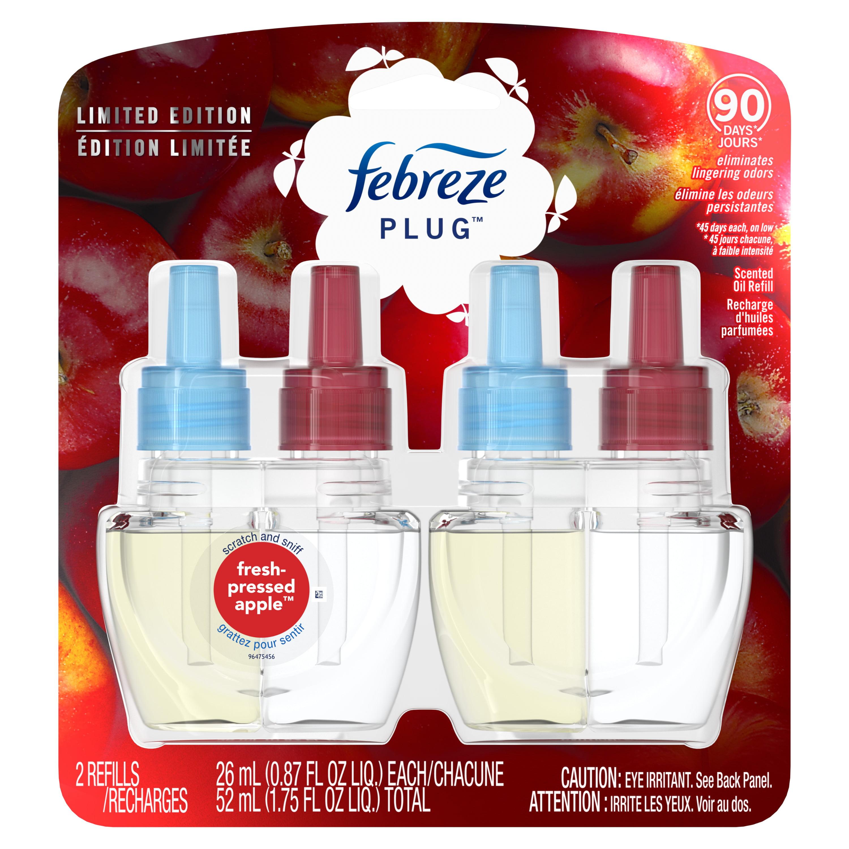 Febreze Plug Odor-Eliminating Air Freshener Oil Refill ...