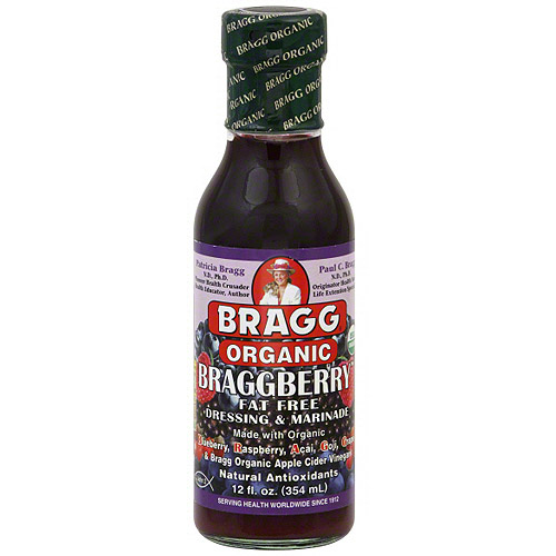 Bragg Organic Braggberry Dressing & Marinade, 12 oz (Pack of 12)