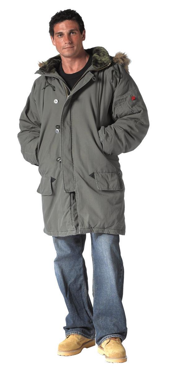 UF Vintage N-3B Parka Jacket Mens Coat by Rothco