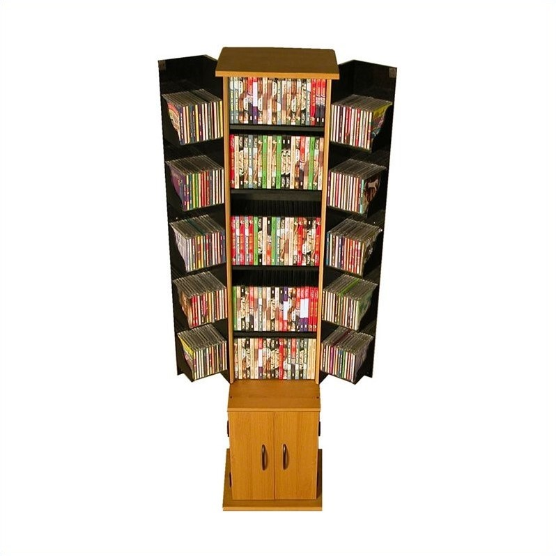 "Venture Horizon Original 68"" CD DVD Media Tower Cabinet-Black"