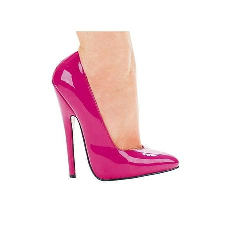 Ellie Shoes E-8260 6 Heel Fetish Pump 8 / Pink - Retro 13 Pink