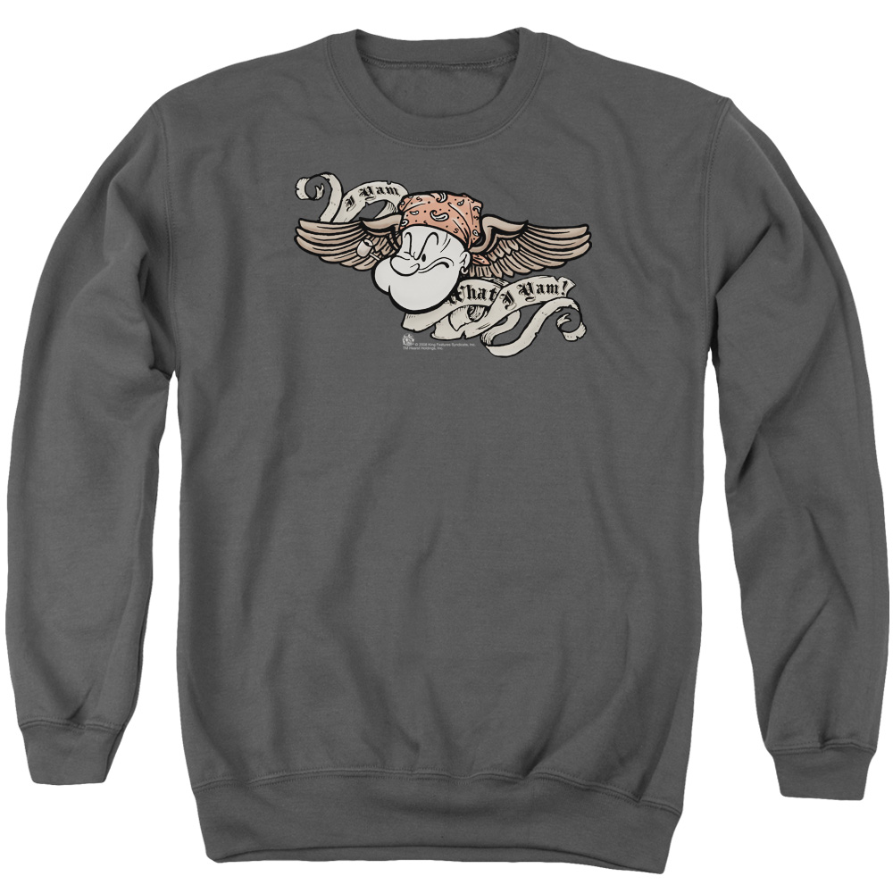 Popeye The Sailor Man Animated Cartoon Character I Am Adult Crewneck Sweatshirt
