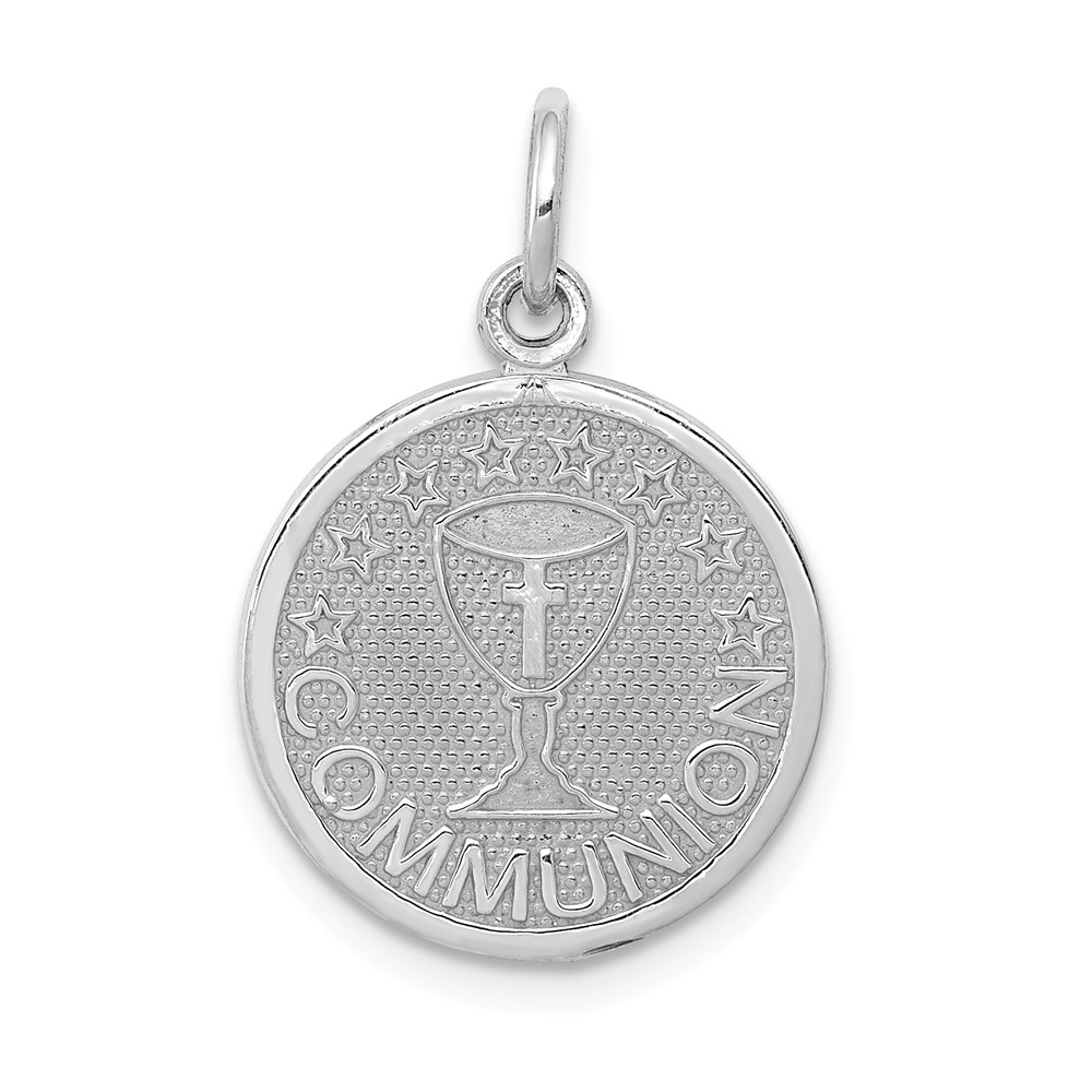 14k White Gold Communion Charm (0.9in long x 0.6in wide)