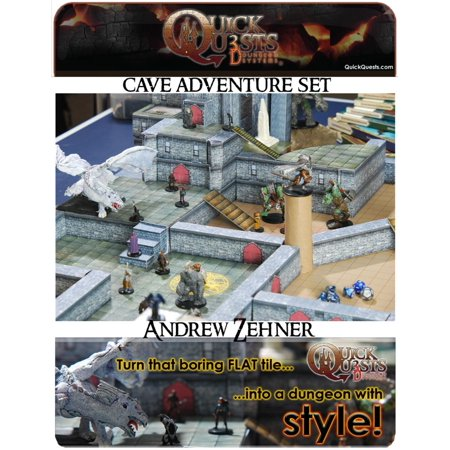 PRINTABLE 3D Dungeon Tiles: Master DM set - for Dungeons and Dragons, D&D, Gurps, Warhammer, or other RPG - eBook ()
