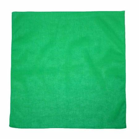 MTL® 100% Cotton Solid Color Bandana, - Bandana Green