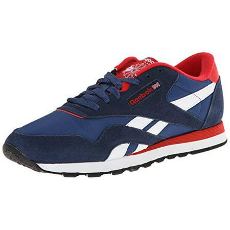 b30225e6fa2 Reebok Men's Nylon Classic Shoe, Faux Indigo/Batik Blue/Red  Rush/White/Black, 13 M US