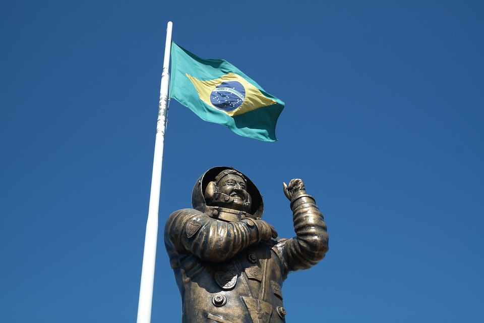LAMINATED POSTER Statue Marcos Pontes Astronaut Brazil Brazilian Poster 24x16 Adhesive Decal by