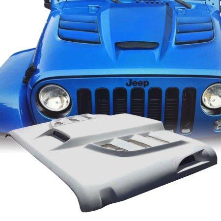 Zephyr Europa Series Hoods - Xprite Batman Series Fiber Glass Hood for 07-18 Jeep Wrangler