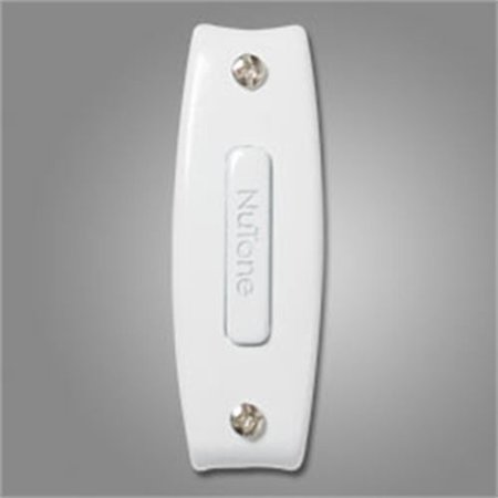 - NuTone PB7LWH Wired One-Lighted Door Chime Push Button, White