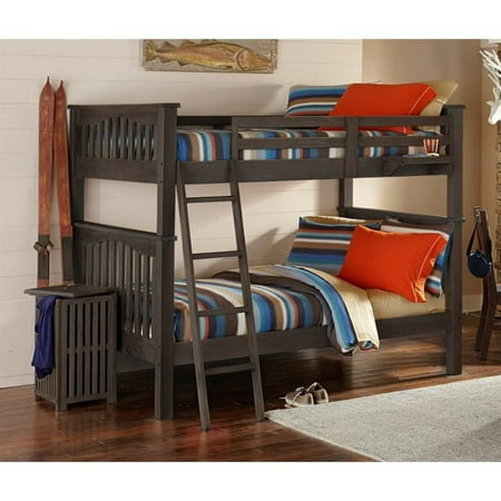 Twin Over Twin Bunk Bed Espresso
