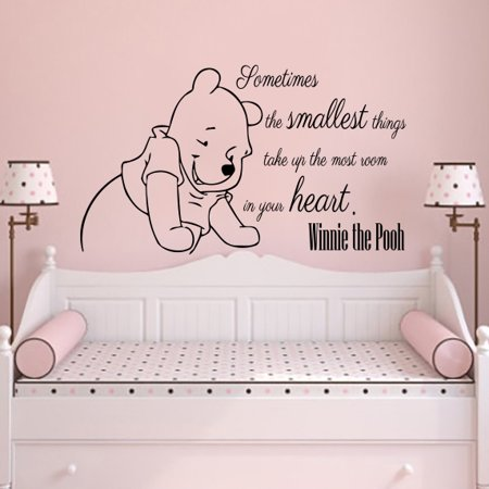 Classic Winnie The Pooh Wall Decals Quotes Sometimes The Smallest Things (Winnie The Pooh Halloween Quote)