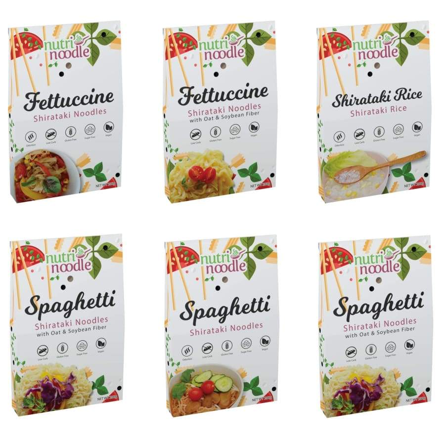 NutriNoodle Shirataki Noodles and Rice - Variety Pack