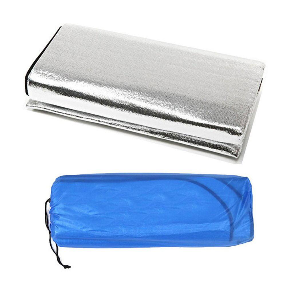 double sided foldable waterproof aluminum foil mat outdoor travel beach mat. Black Bedroom Furniture Sets. Home Design Ideas