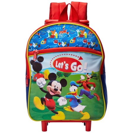 Disney Mickey Mouse 12 Inch Rolling Backpack - Walmart.com