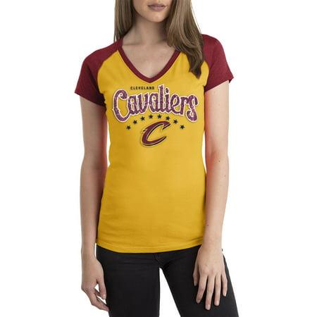 Cleveland Cavaliers Womens NBA Short Sleeve Biblend Jersey (Cleveland Cavaliers Away Jersey)