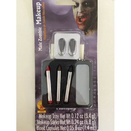 Halloween Male Zombie Blood Capsules Makeup Kit Costume Theater Face
