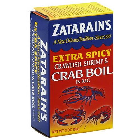 Zatarain's Extra Spicy Crawfish, Shrimp & Crab Boil in a Bag Seasoning, 3 oz, (Pack of