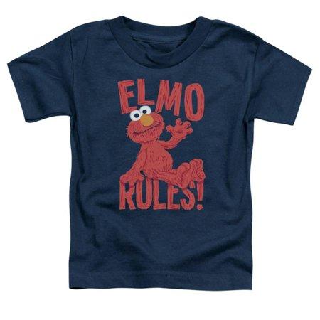Toddler: Sesame Street- Elmo Rules Apparel Baby T-Shirt - Blue