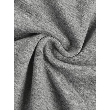 Women Plus Size Drawstring Waist Contrast Color Jogger Pants Gray 2X - image 1 de 7