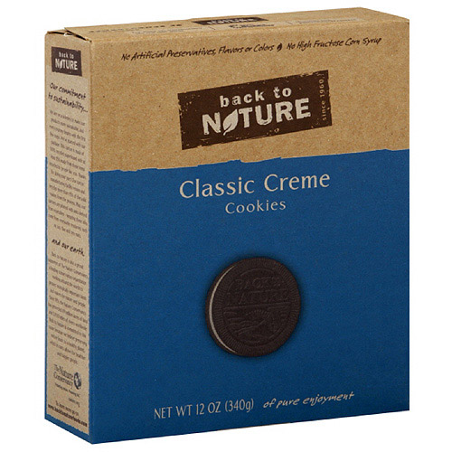 Back To Nature Classic Creme Sandwich Cookies, 12 oz, 6ct (Pack of 6)
