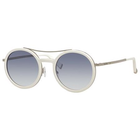 Max Mara Oblo'/S Sunglasses 0UJU 49 White Light (Max Mara Round Sunglasses)