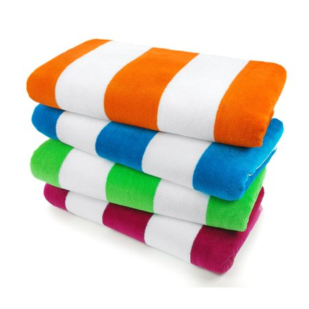 (Kaufman Sales Velour Cabana Light Resort Beach Towel (Set of 4))