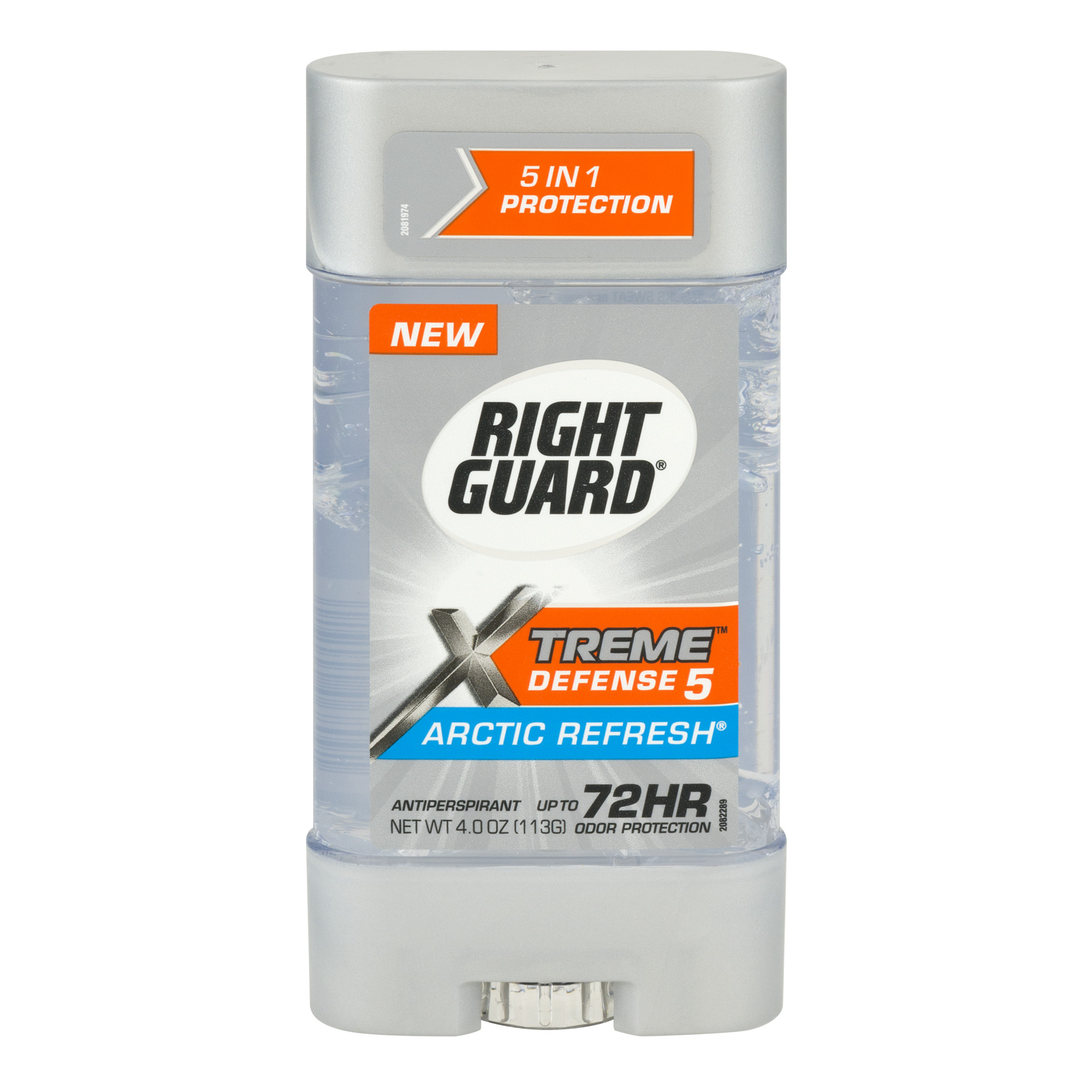 Right Guard Xtreme Defense 5 Antiperspirant Deodorant Gel, Arctic Refresh, 4 Ounce
