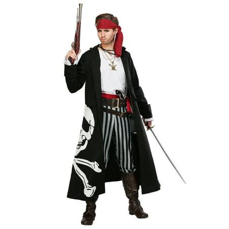Mens Plus Size Pirate Costume (Pirate Flag Captain Plus Size Mens)