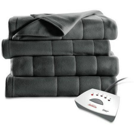 Sunbeam Fleece Electric Heated Channeled Blanket, 1 Each (Ll Bean Electric Blanket)