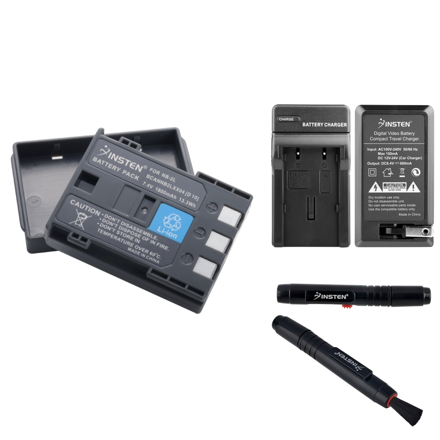 Insten NB-2LH Battery AND Charger for Canon Rebel XT 350D+Pen