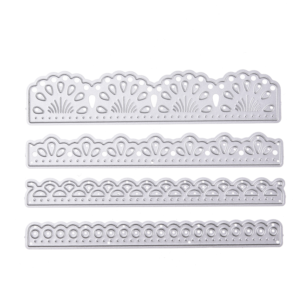 All clearance 4 Pcs/set 2018 Dies Lace Craft Die for Scrapbooking Wedding DIY Decoration