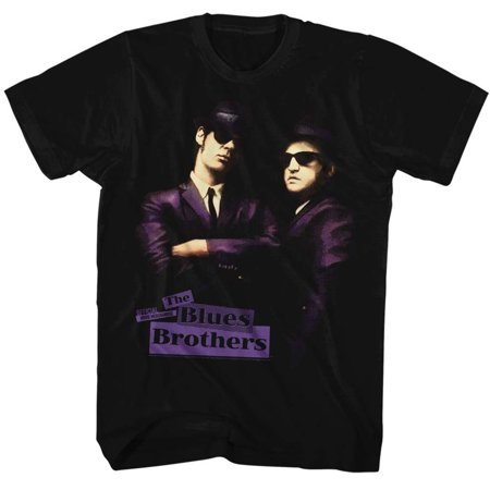 Blues Brothers Placards Licensed Adult T Shirt