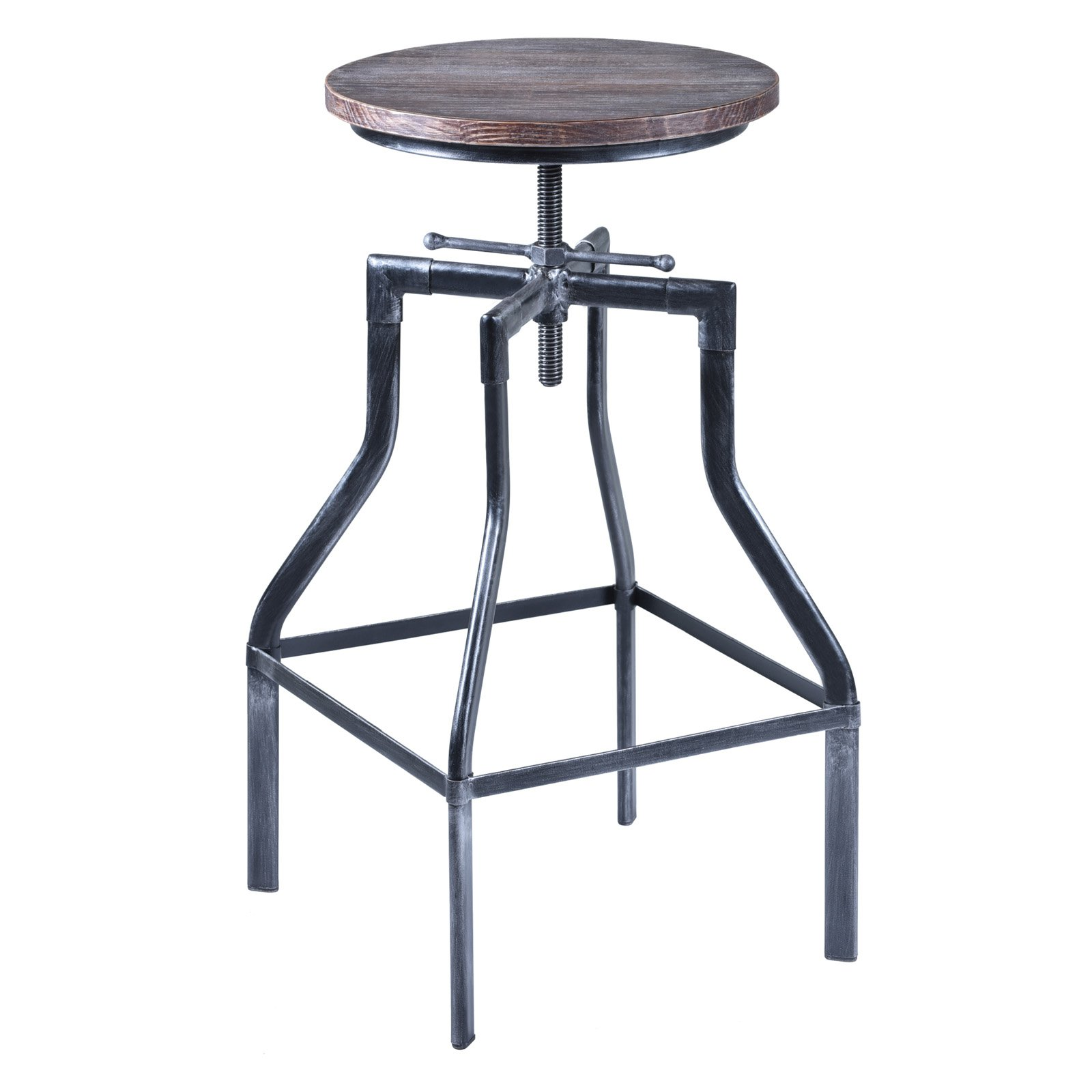 Armen Living Concord Adjustable Backless Bar Stool