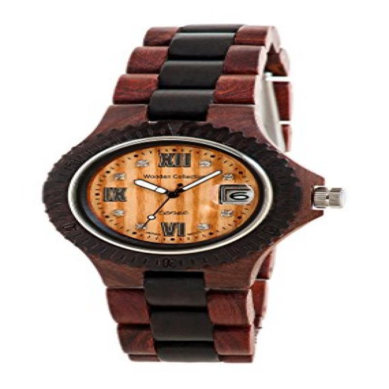 Tense Two-Tone Natural Wood Roman Watch Ladies L4100RD RNLF