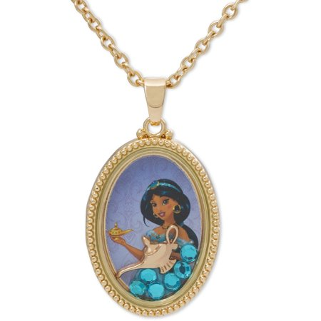 Disney Princess Jasmine Oval Shaker Necklace Walmart Com