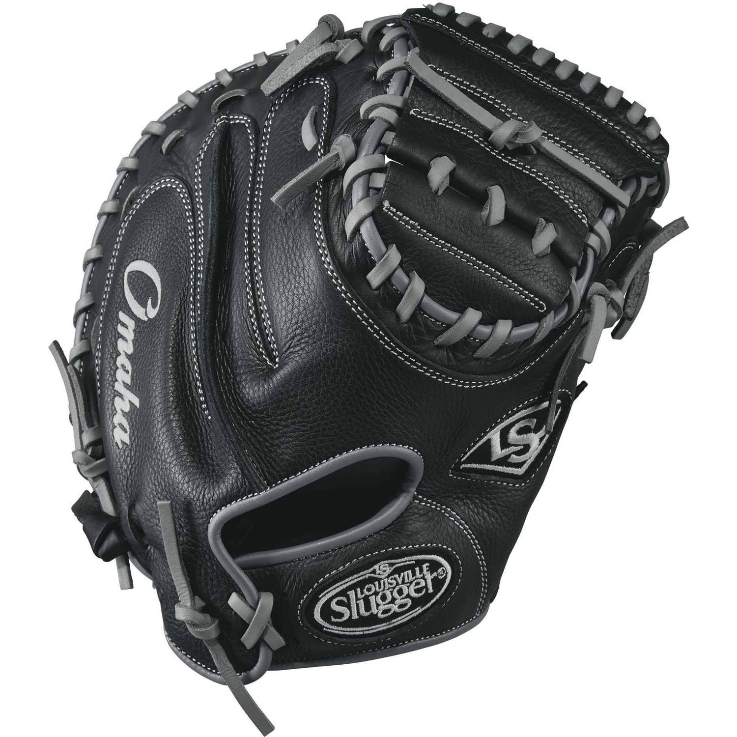 "Louisville Slugger Omaha Baseball Catchers Mitt, Right Hand Throw, 32"" by Louisville Slugger"