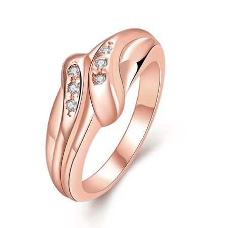 Aventura Jewellery Gold Plated Matrix Love Knot Ring Size 7