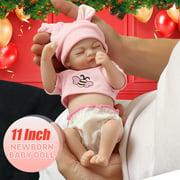 Silicone Newborn Reborn Sleeping Reborn Baby Doll Realistic Dolls Alive Real Lifelike Baby Doll Handmade DIY Birthday Gift Children Toys